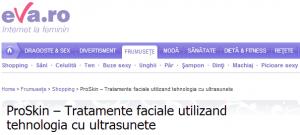 Tratament facial cu ultrasunete ProSkin