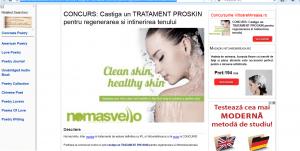 Nomasvello ofera cadou un tratament facial ProSkin pentru regenerarea tenului